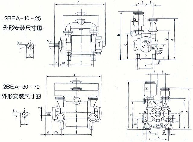 2bea系列水环真空泵及压缩机
